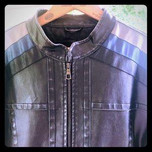 🕶Whispering Smith vegan leather Cafe Racer Jacket